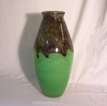 Image of Degue French jade green art glass vase c1920