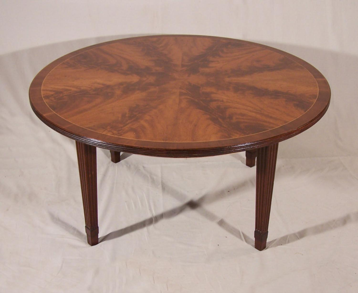 Schmieg and Kotzian round mahogany coffee table