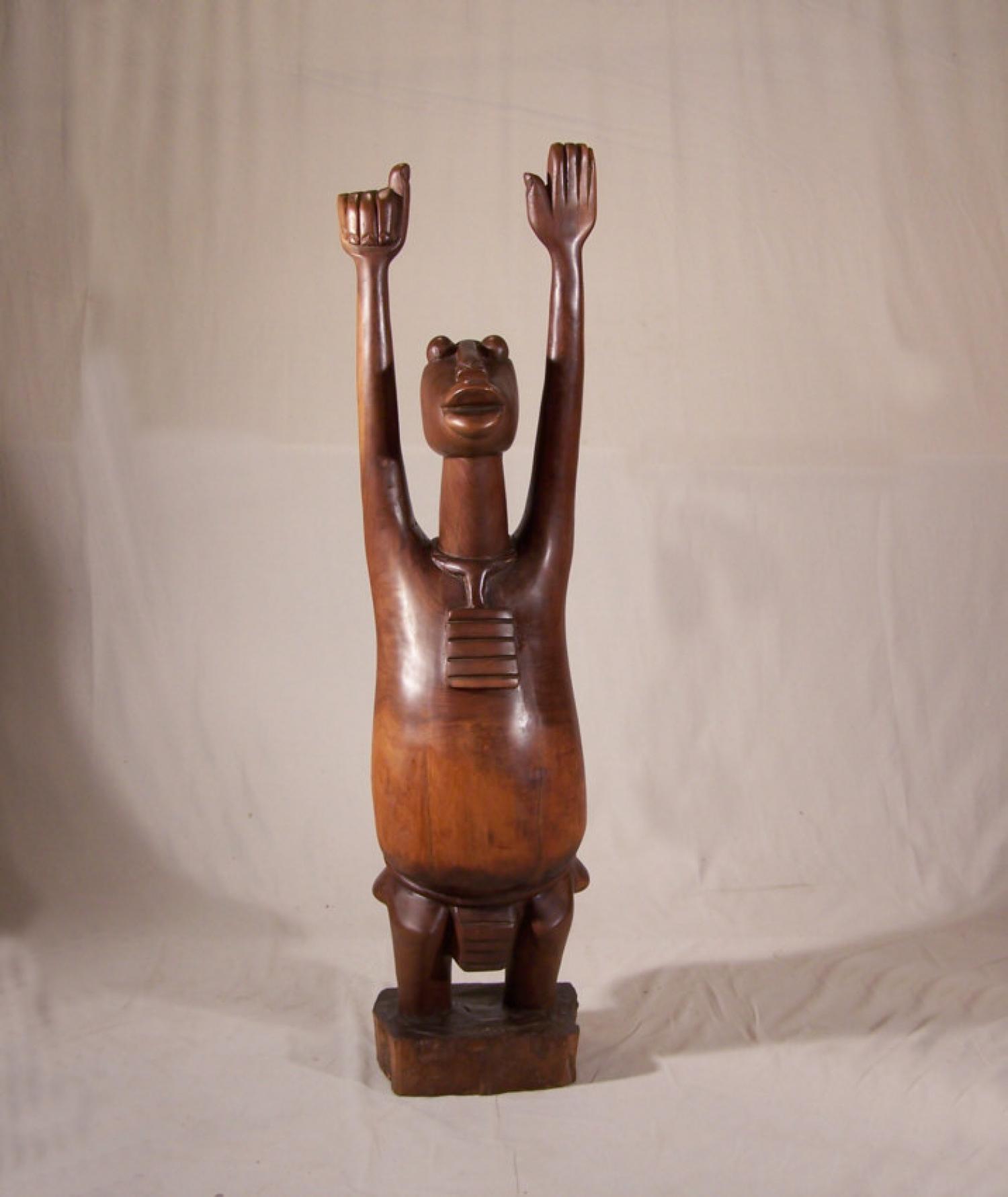 Large African Art rain god sculpture by Katumo c1970