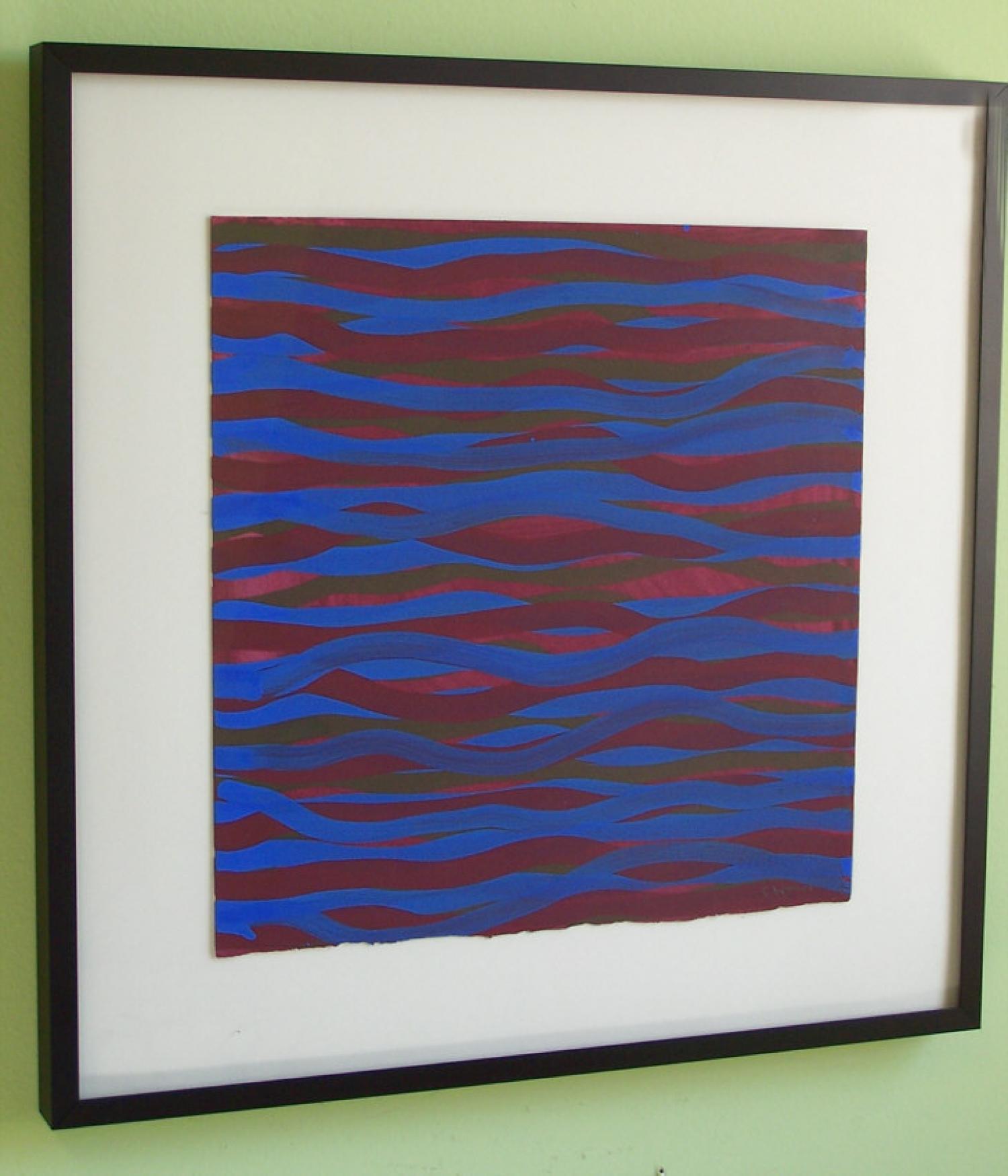 Sol Lewitt Gouache on paper Horizontal Brush Strokes 2003