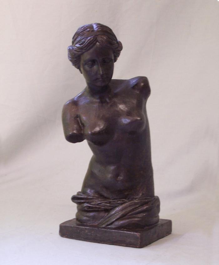 Antique steel sculpture after Venus de Milo
