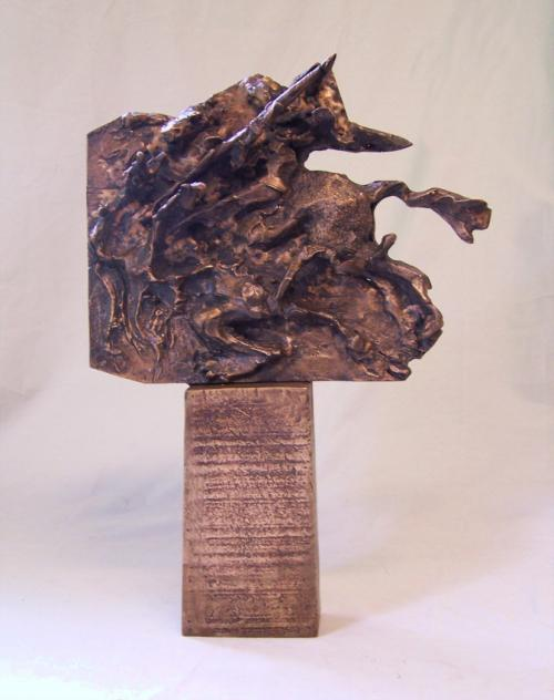 Don Quixote abstract bronze sculpture James Knowles 1986