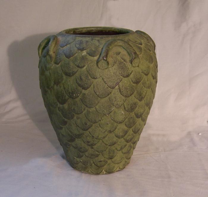 Rare American art pottery jar by Charles Lawrence  c1880