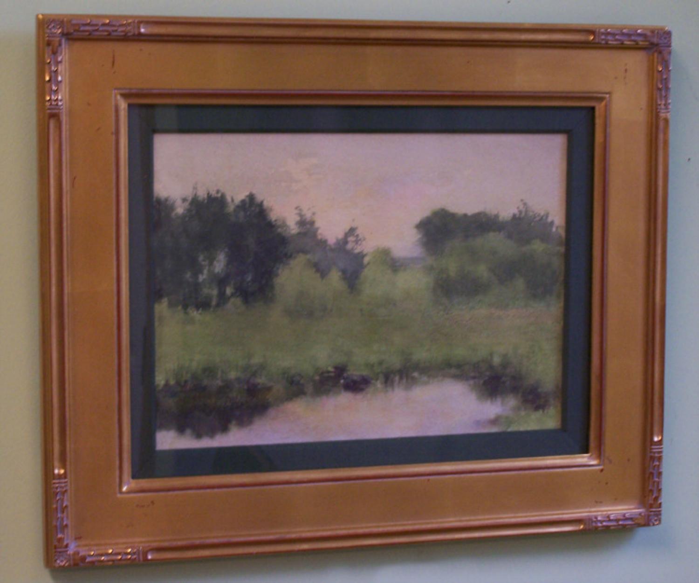 Fannie Burr impressionist watercolor landscape c1880