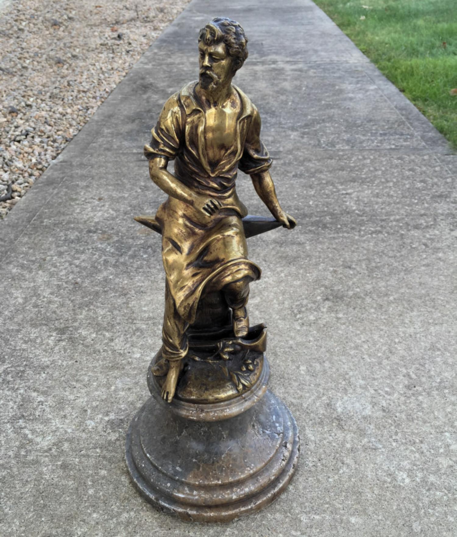 19th century bronze farrier sculpture