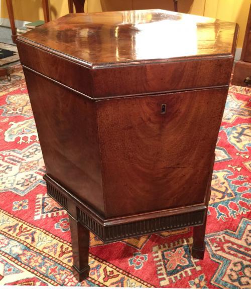 Antique Regency period mahogany wine cooler cellaret