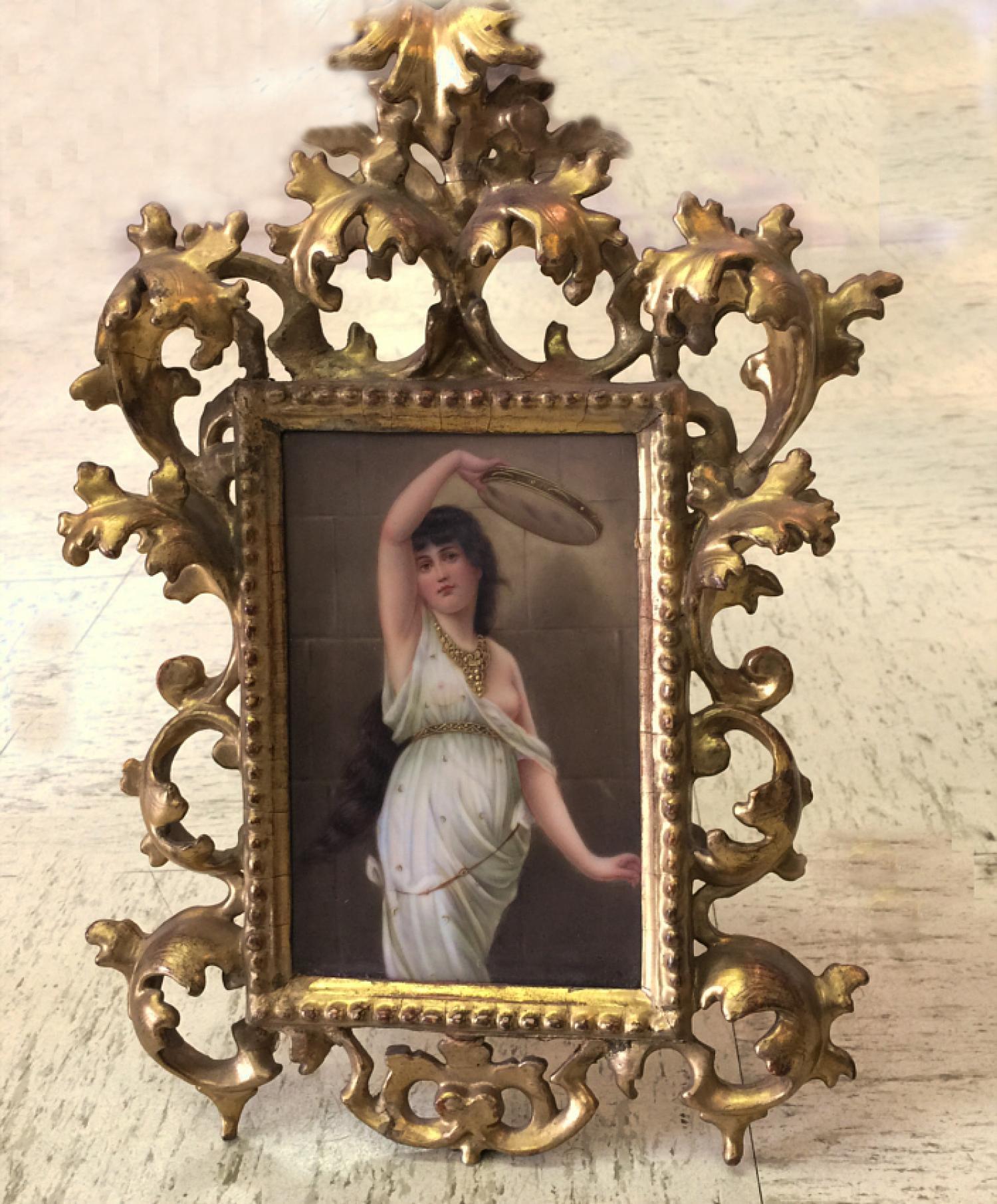 N Sichel French porcelain plaque c1880