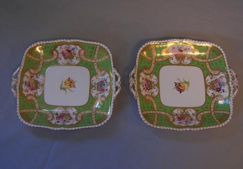 Pair of Coalport porcelain plates
