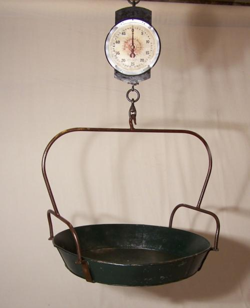 Vintage Boston hanging produce scale