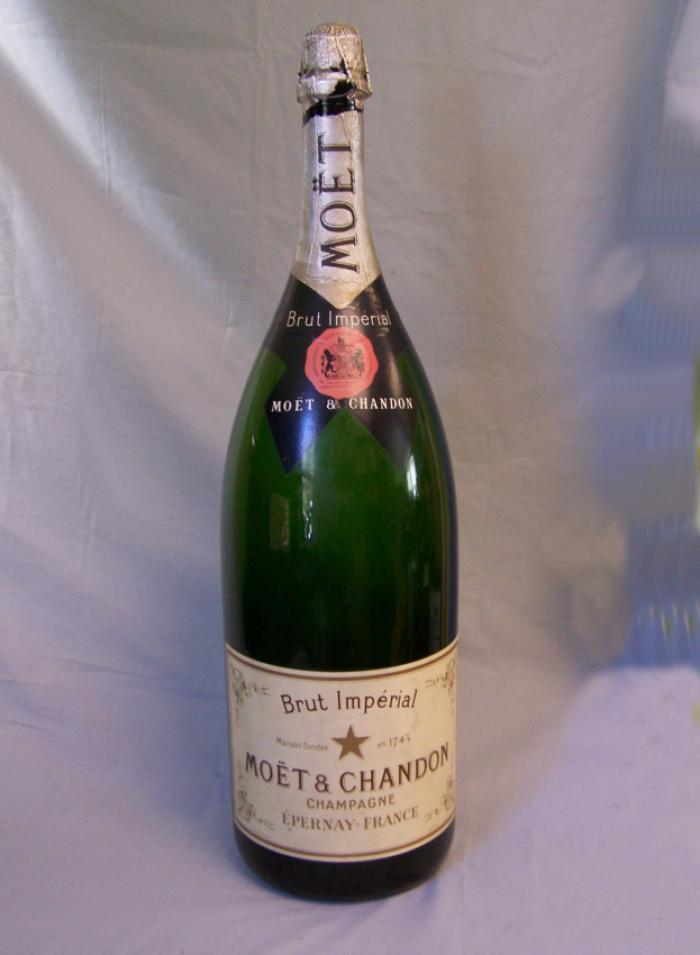 Tall Moet Chandon Champagne display bottle