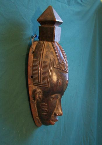 Image of Vintage Guro tribal Mask Ivory Coast Africa c1950