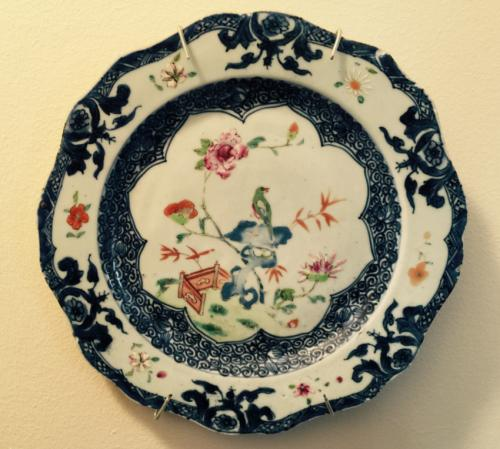 Chien Lung Famille Rose porcelain plate c1750