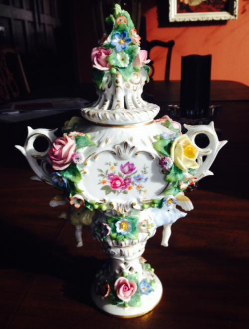 Porcelain urn Sitzendorf Porcelain Manufactory Thuringia Germany 1900