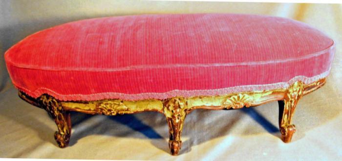 Louis XV style footstool c1850