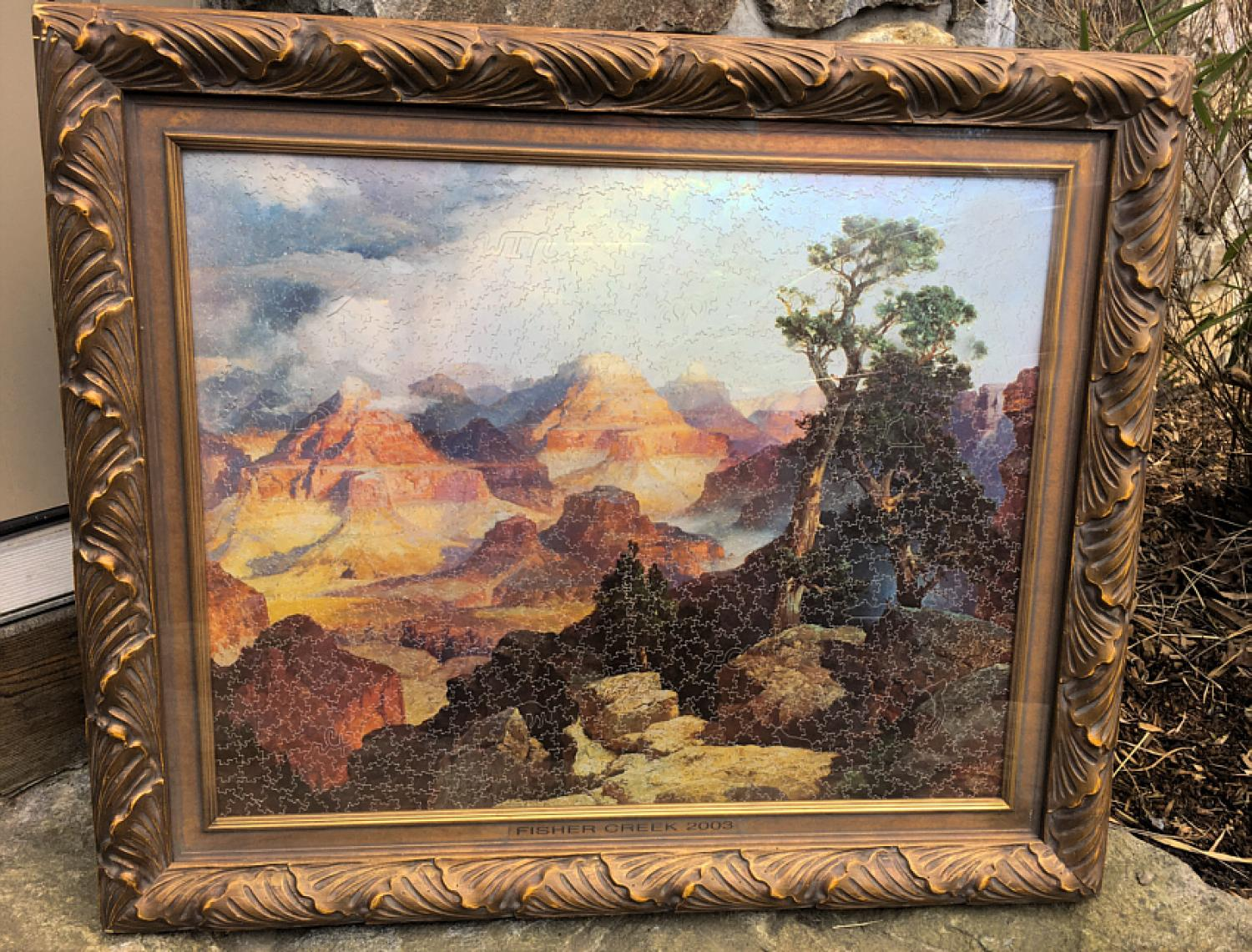 Rainy Lake jigsaw puzzle Clouds in the Canyon