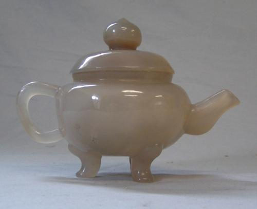 Antique Chinese 19th century Agate tea pot
