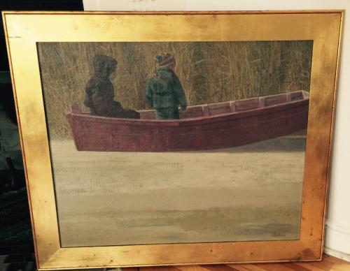 Joe Lasker oil painting on board