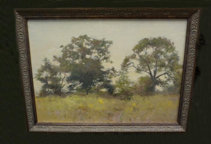 Fannie Burr impressionist landscape oil painting c1880