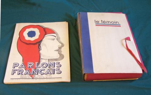 1934 Parlons Francais Dessins de Paul Iribe Le Temoin magazines