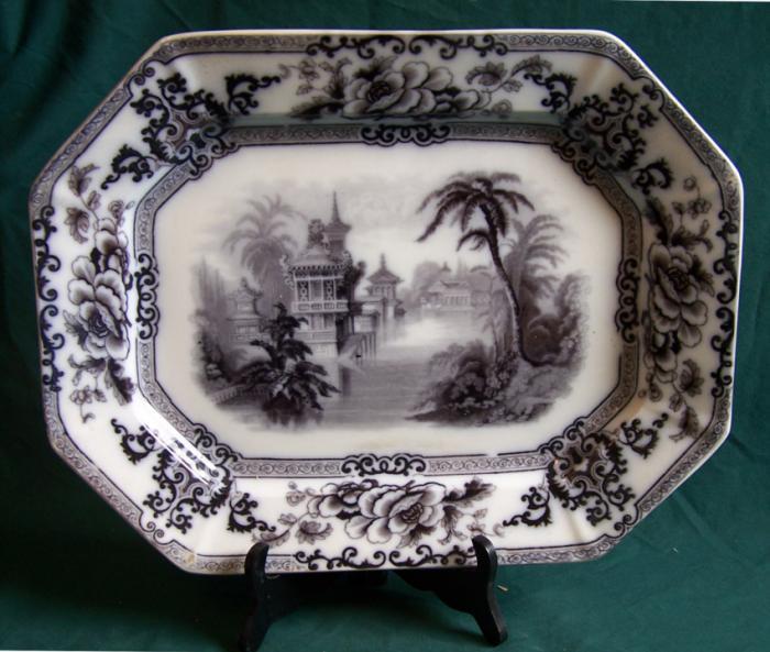 Davenport Longport Staffordshire Cyprus ironstone platter c1850