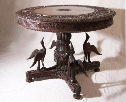 Antique Anglo Indian bird base table c1850