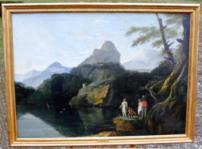 18thc Grand Tour oil painting on canvas attributed to William Hodges R A