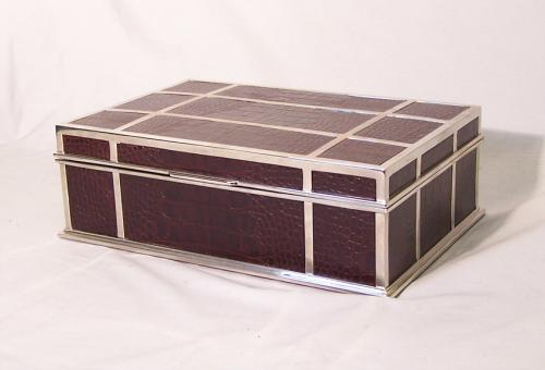 Lorin Marsh purple lizard Bullnose Box