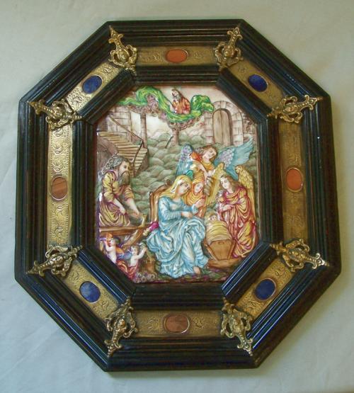 Grand Tour 19th C Capodimonte porcelain plaque c1880