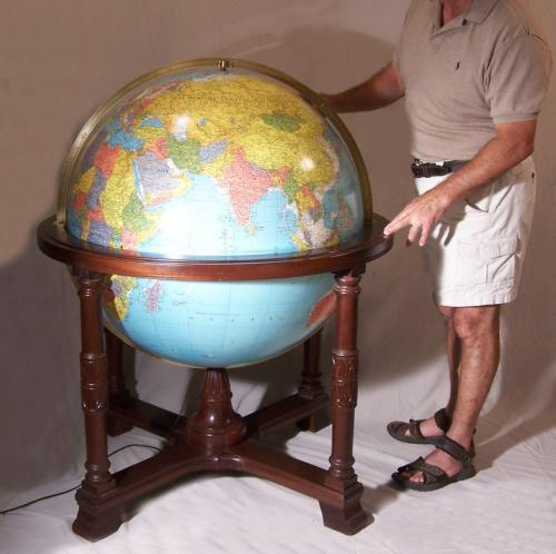 Replogle 32 inch Diplomat standing library globe