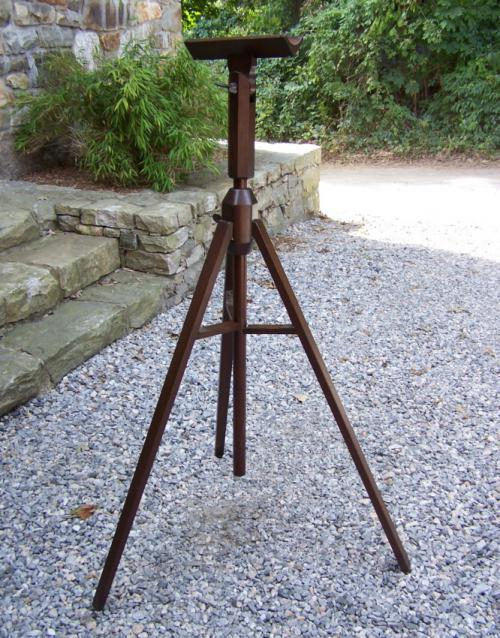 Antique walnut adjustable telescope stand c1880