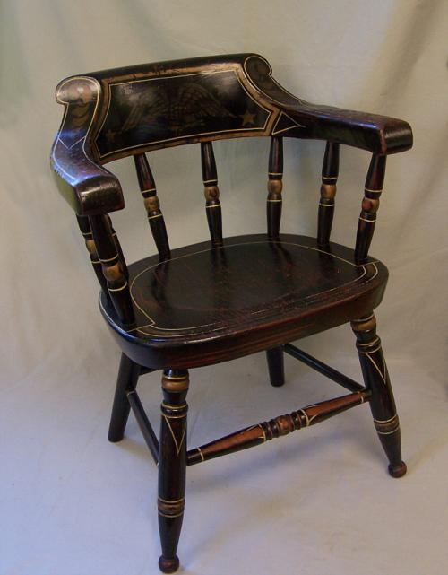 Early American hand painted childs chair c1825