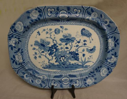 Spode 21 inch blue and white porcelain platter