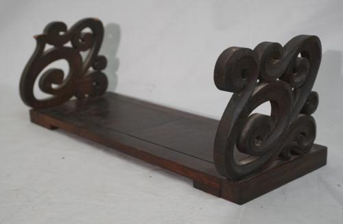 Charles Rohlfs signed adjustable arts and crafts book holder 1902