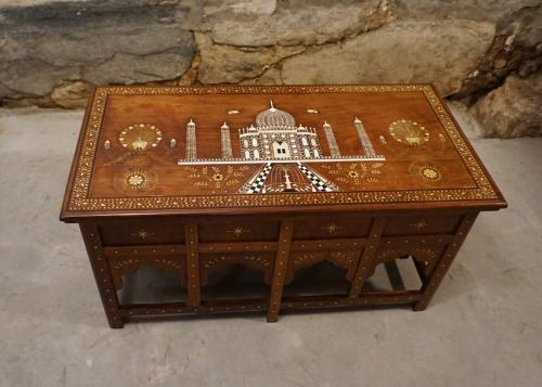 Price My Item Value Of Vintage Indian Rosewood Taj Mahal Coffee Table