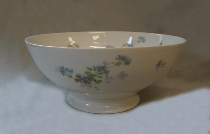 Antique J Pouyat Limoges porcelain bowl