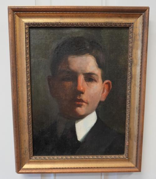 Fannie Burr portrait of a boy oil on canvas c1880