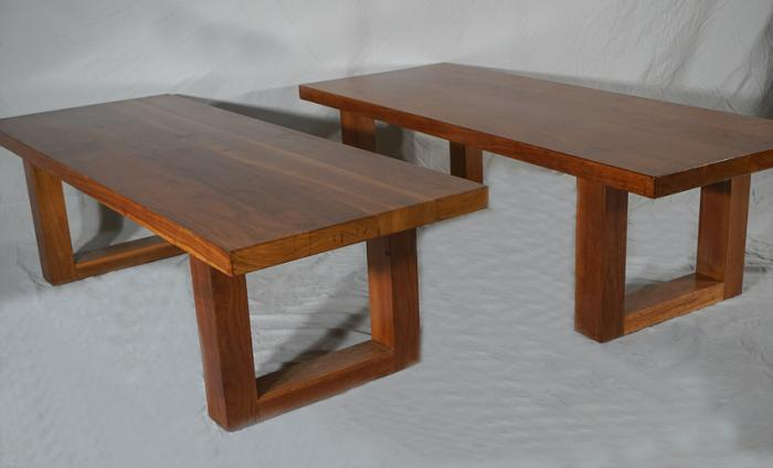 Pair of 1953 Louis I Kahn walnut benches