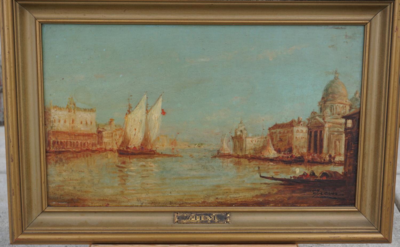 Felix Ziem Venetian seascape oil painting on artist board c1870