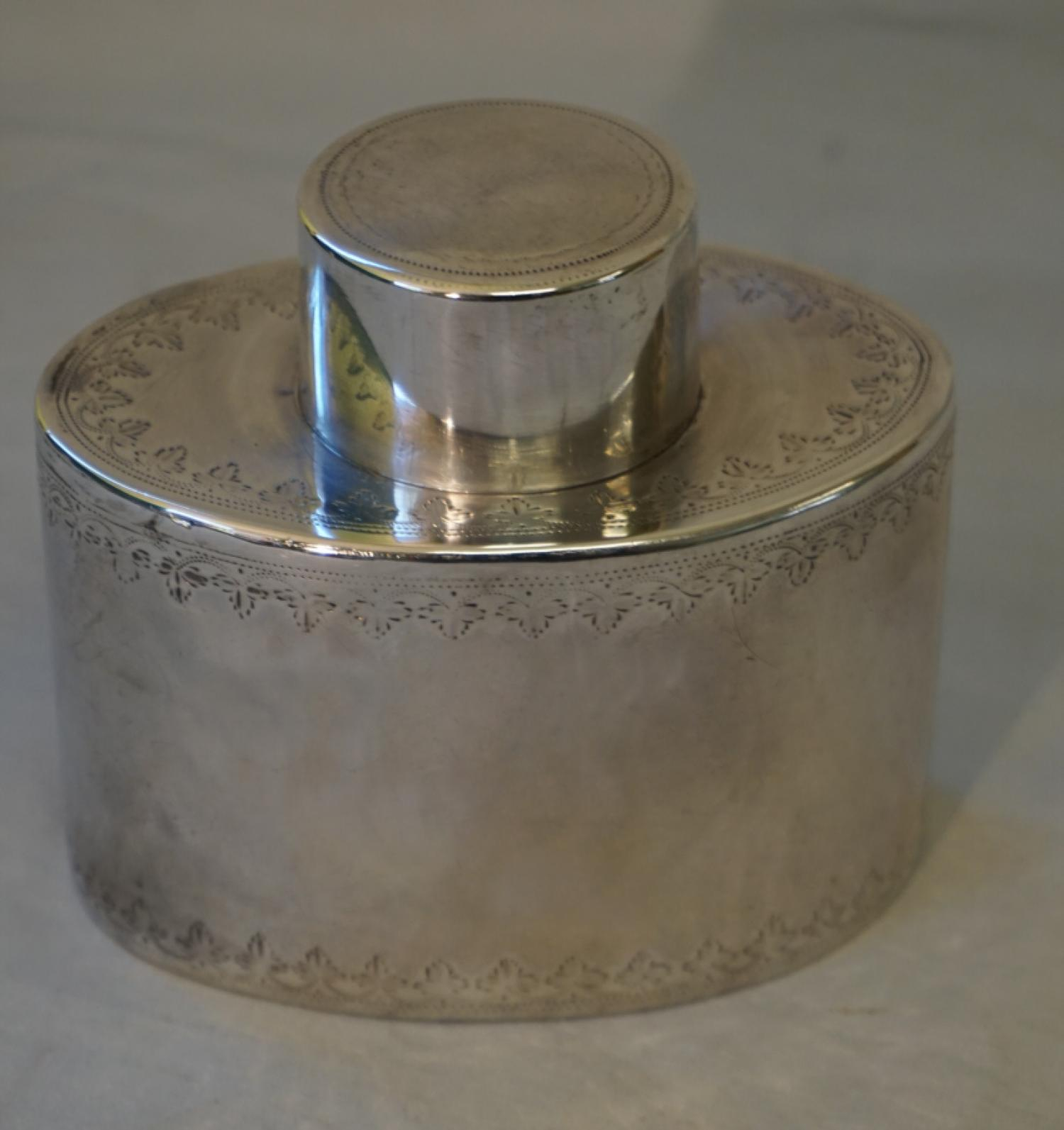 18th century Georgian silver tea caddy