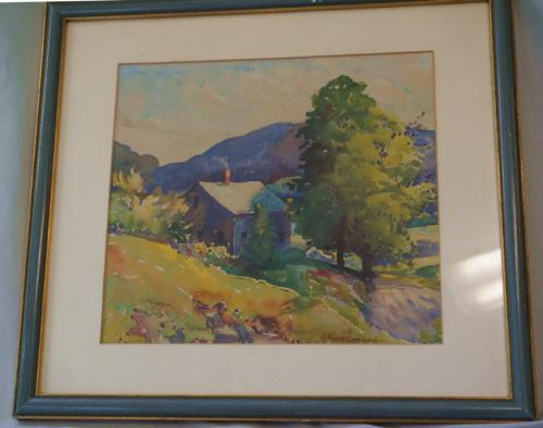 Joseph Frank Copeland landscape watercolor
