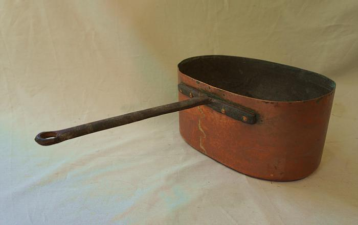 Rare 18th century copper cooking pot