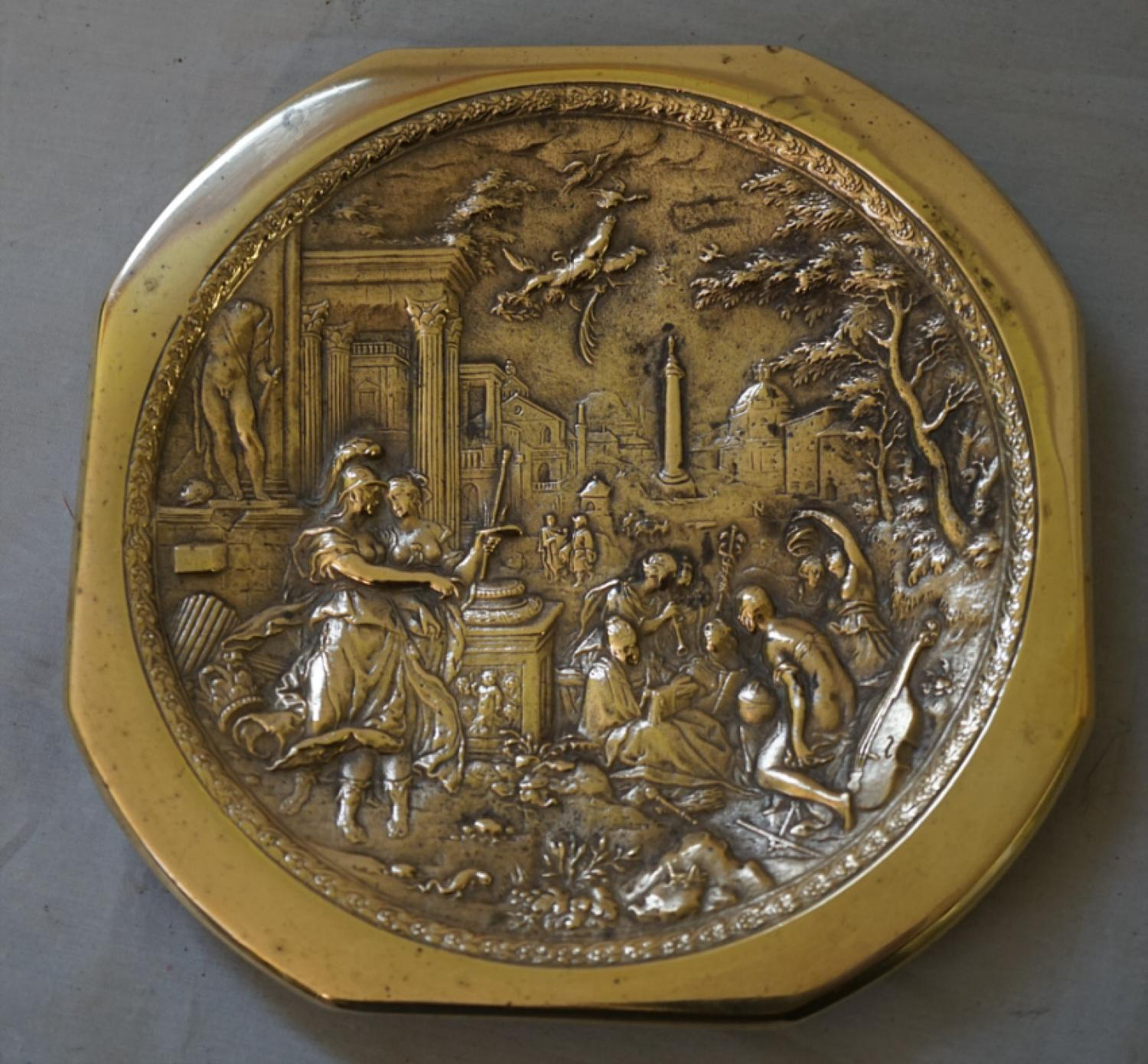 19thc European bronze decorative plaque c1860
