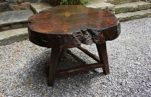 Antique Adirondack chestnut table c1880