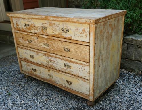 Lillian August designer whitewashed pine dresser