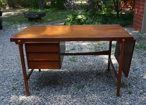 Vintage Hans Olsen modern teak desk c1960