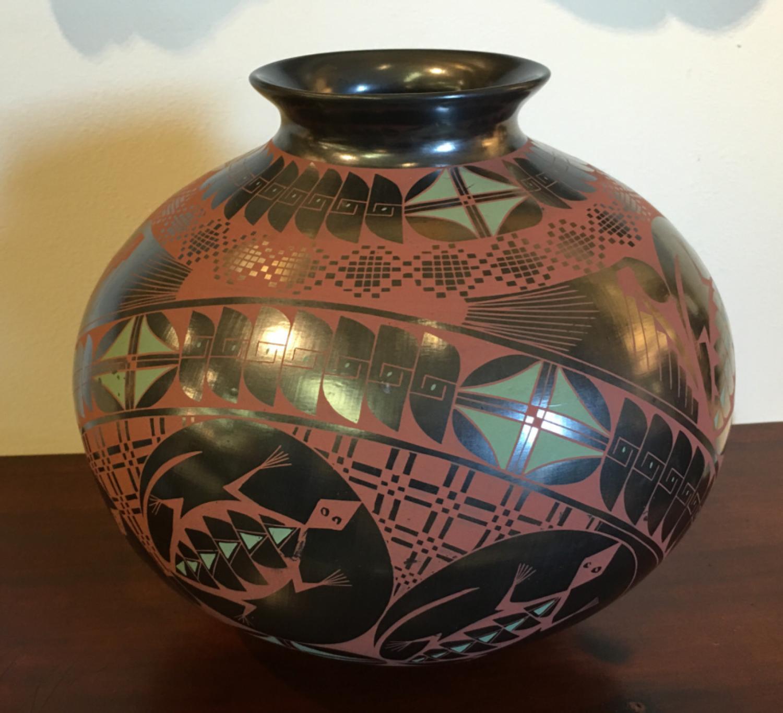 Cesar Bugarini art pottery vessel