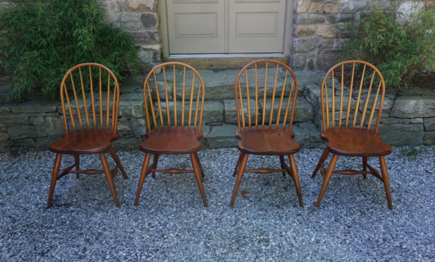 Vintage Frederick Duckloe Bros Windsor chairs