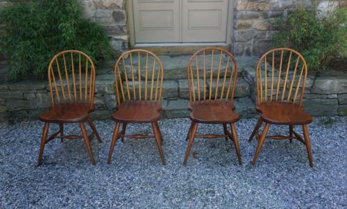 Vintage Frederick Duckloe Bros Windsor chairs