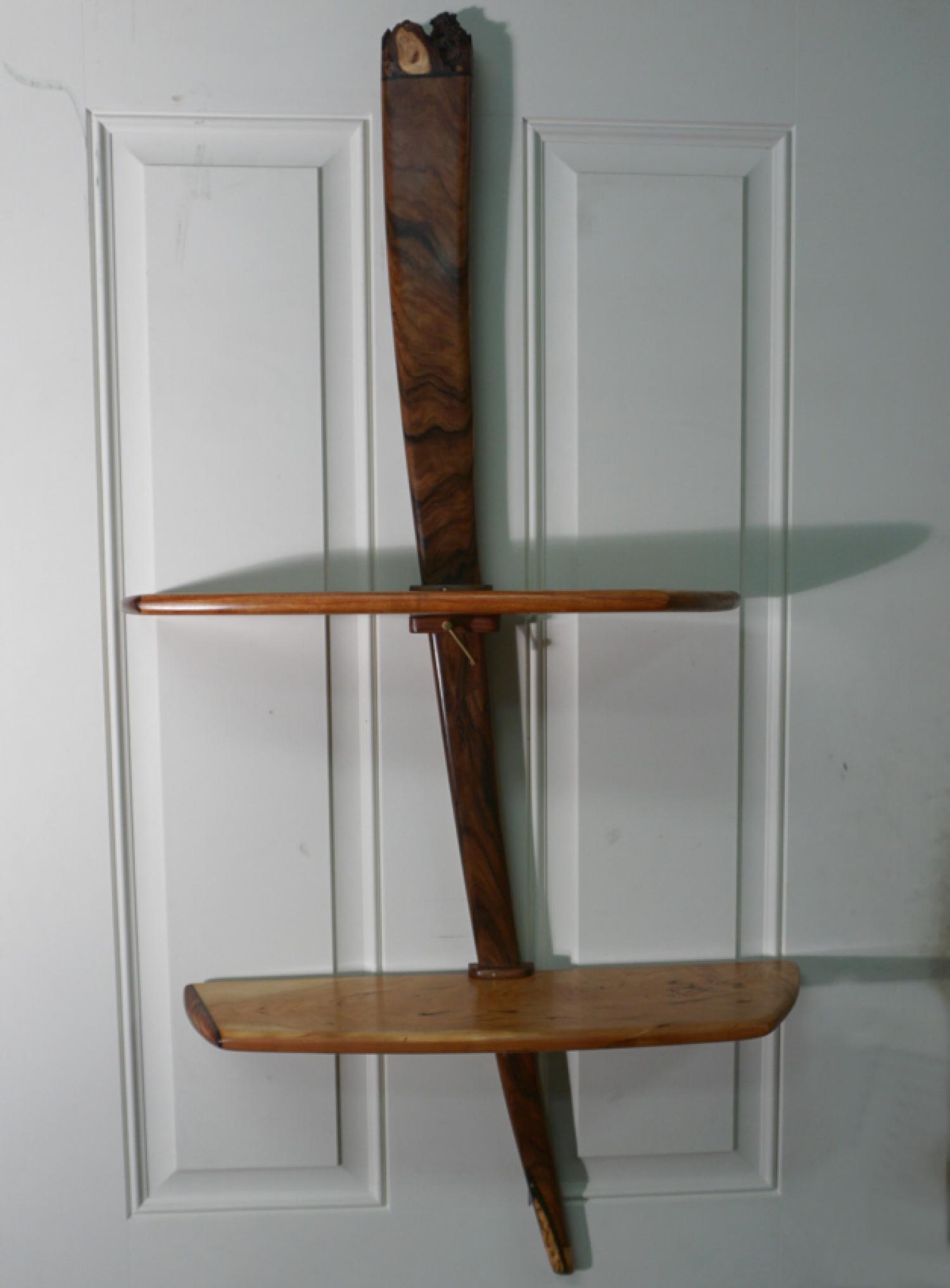 Peter Czuk hand crafted artisan wall shelf