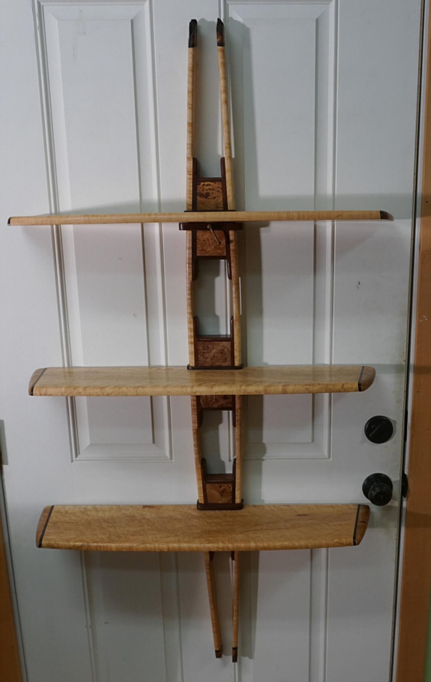 Peter Czuk hand crafted artisan wall shelf